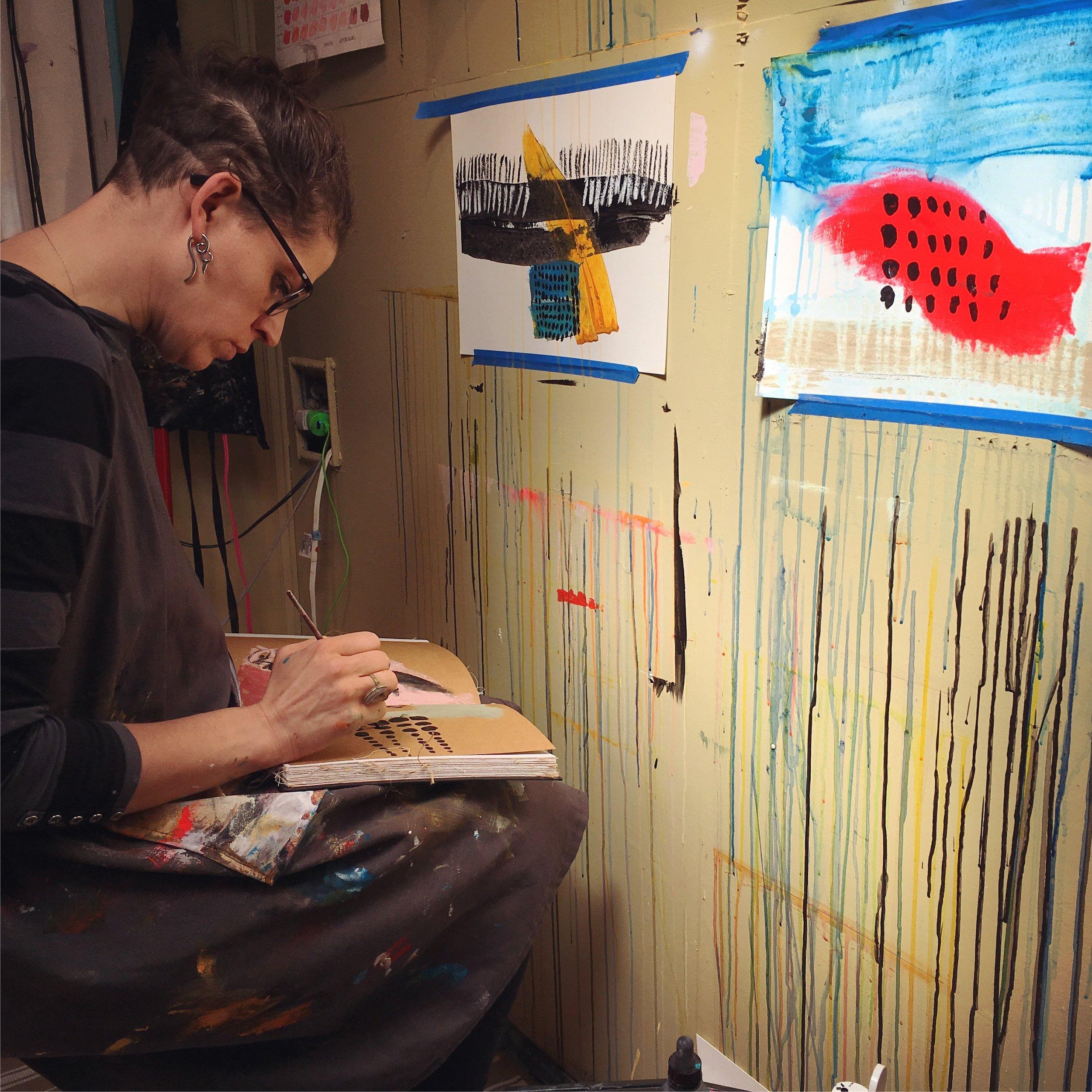 Kirista Trask in Her Studio