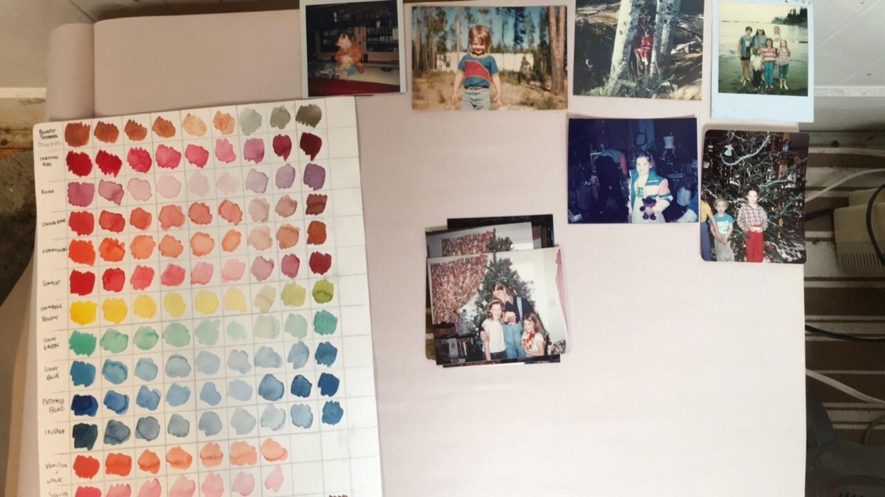 The walls of artist Kirista Trask's studio