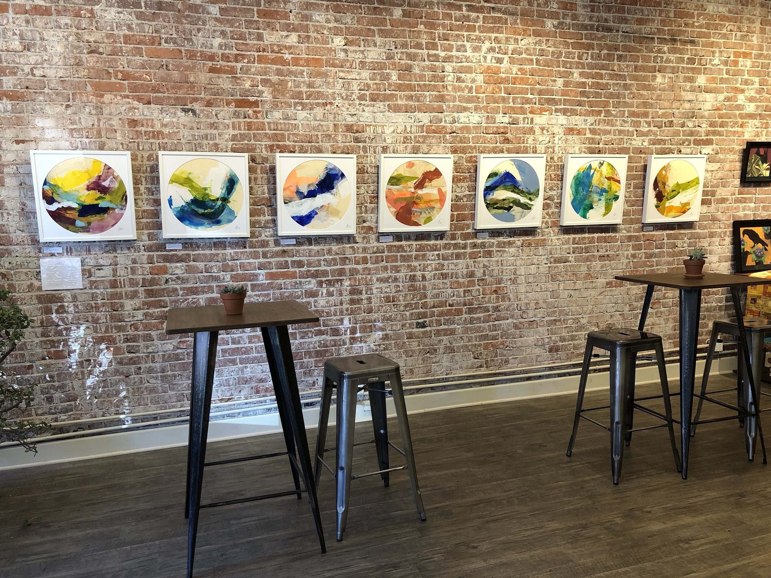 All seven paintings up at Wallow Foundation