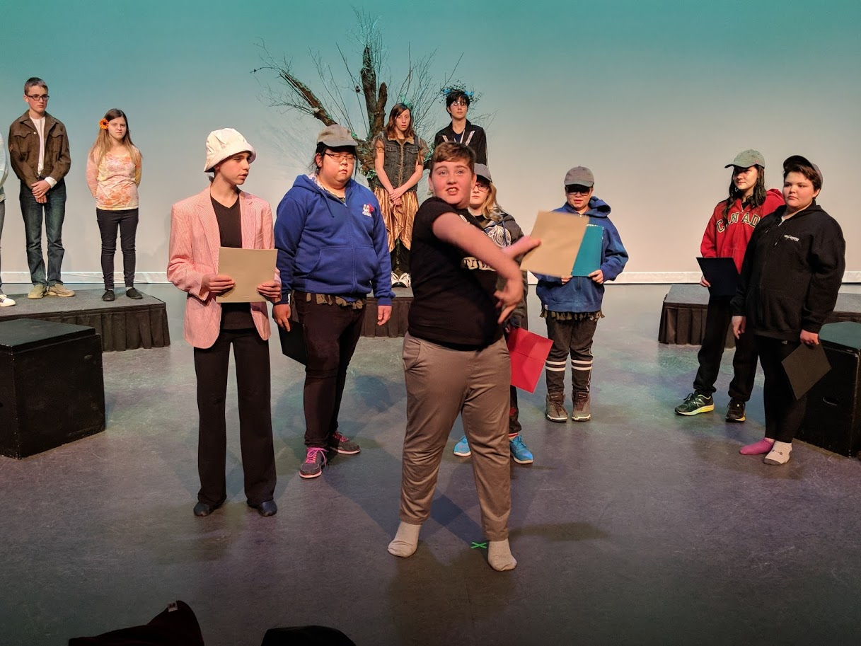 "Youth Production ""A Kidsummer Night's Dream"" directed by Justin Shaw, Fort McMurray 2018."
