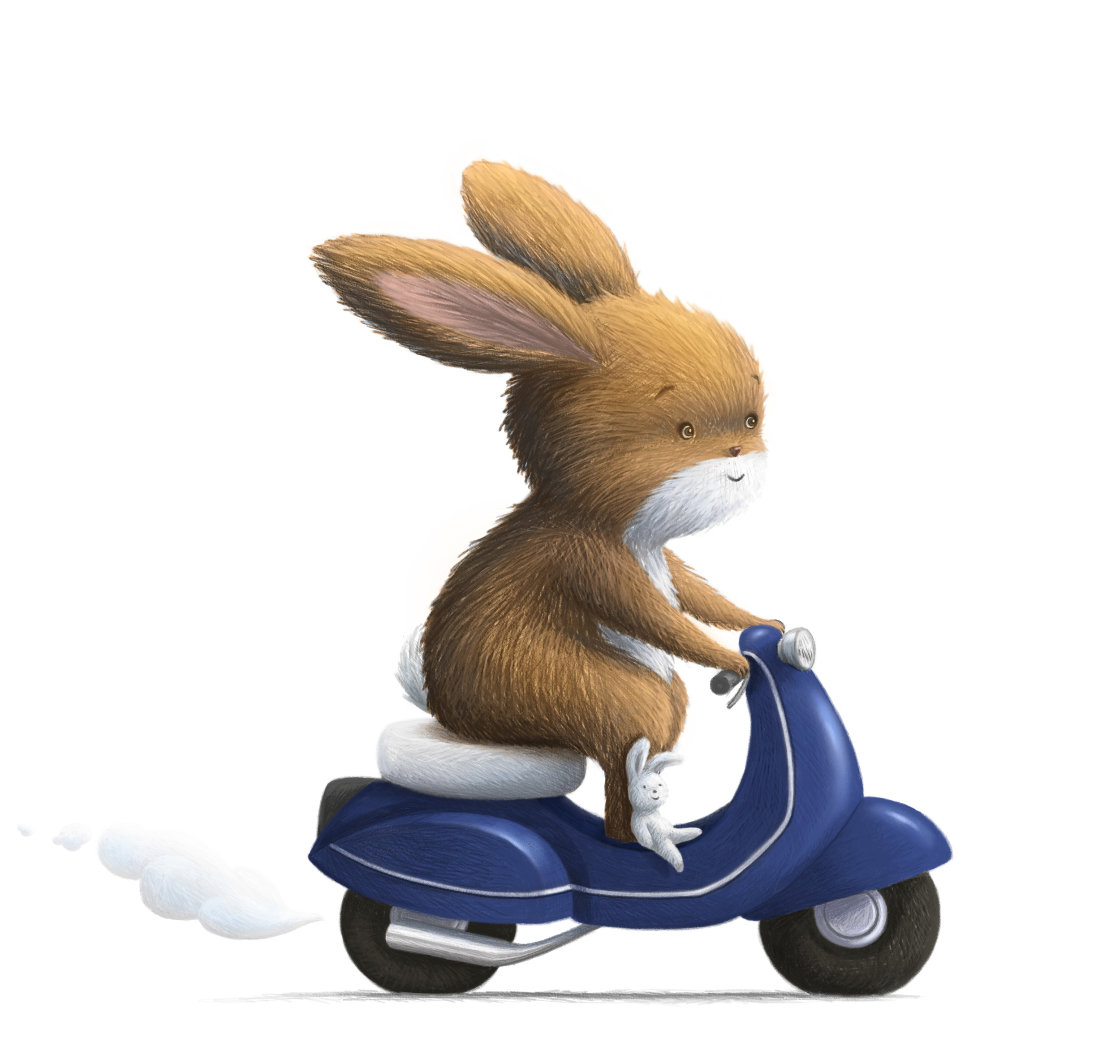 Rabbit and his Moped.jpg