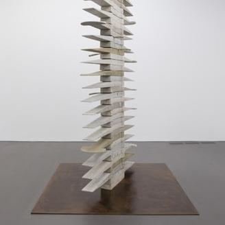 Corten steel and cement, Martha Friedman