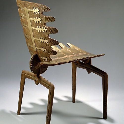 Cast bronze chair
