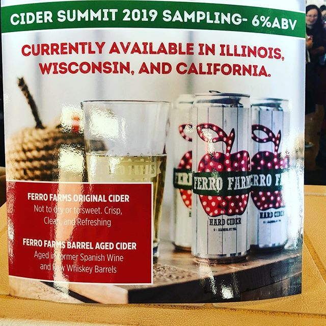 #cidersummitchicago #ferrofarmshardcider