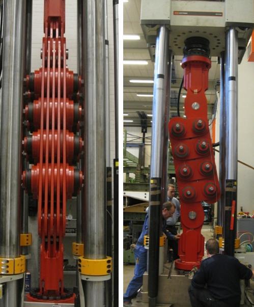 Testing 5000 kN damper in Denmark