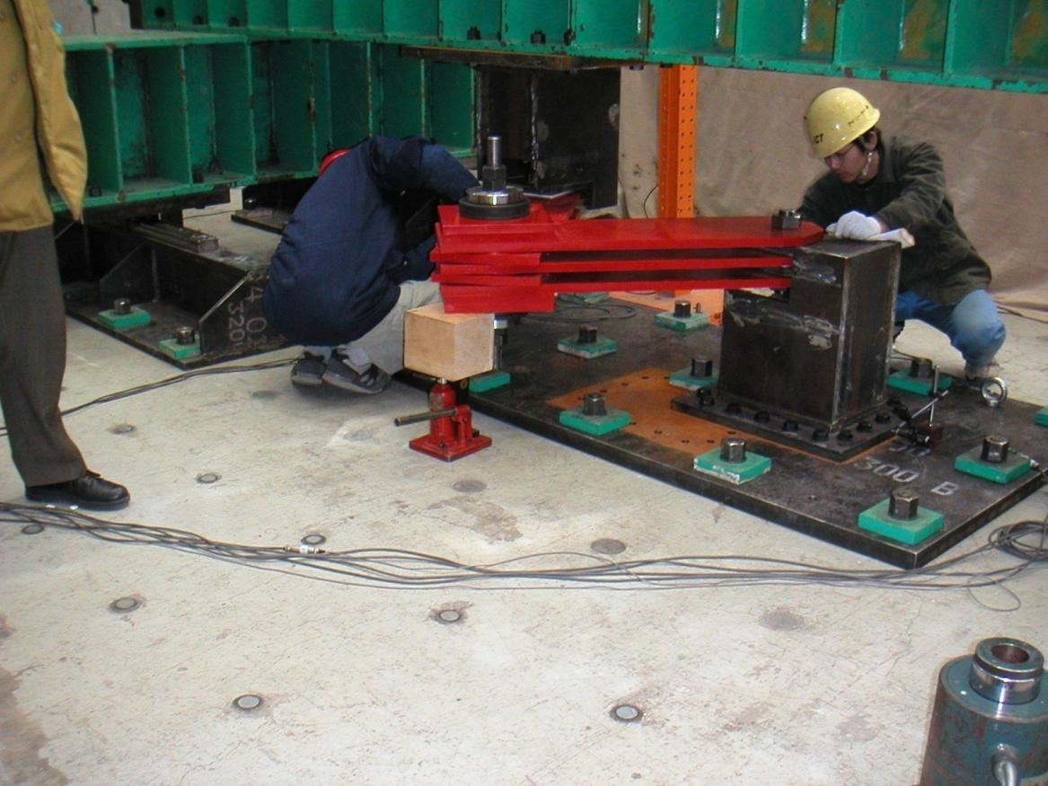 Testing of large Base Isolation Damper, Chiba, Japan