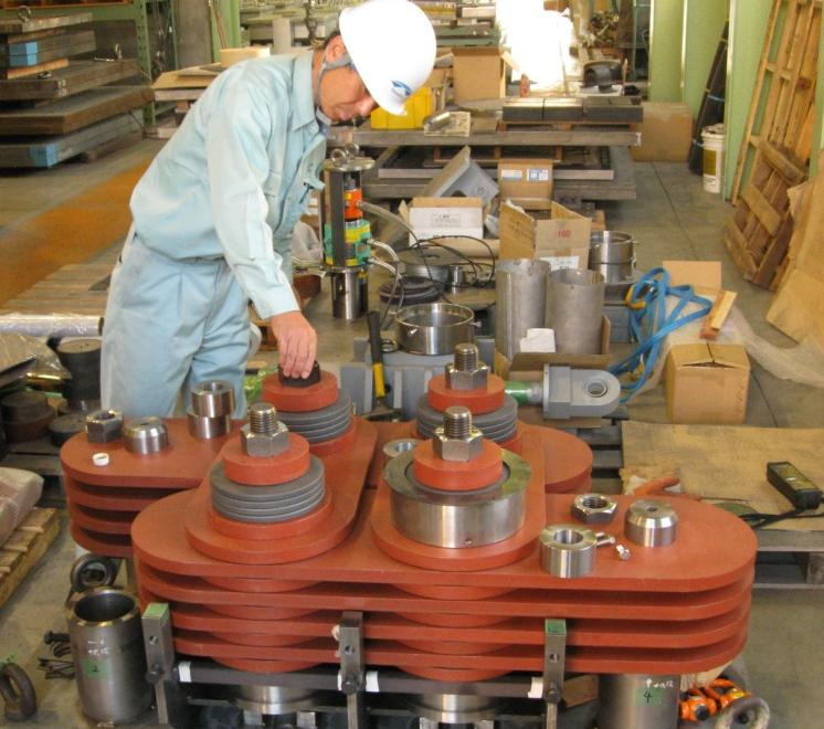 2250 kN damper being prepared