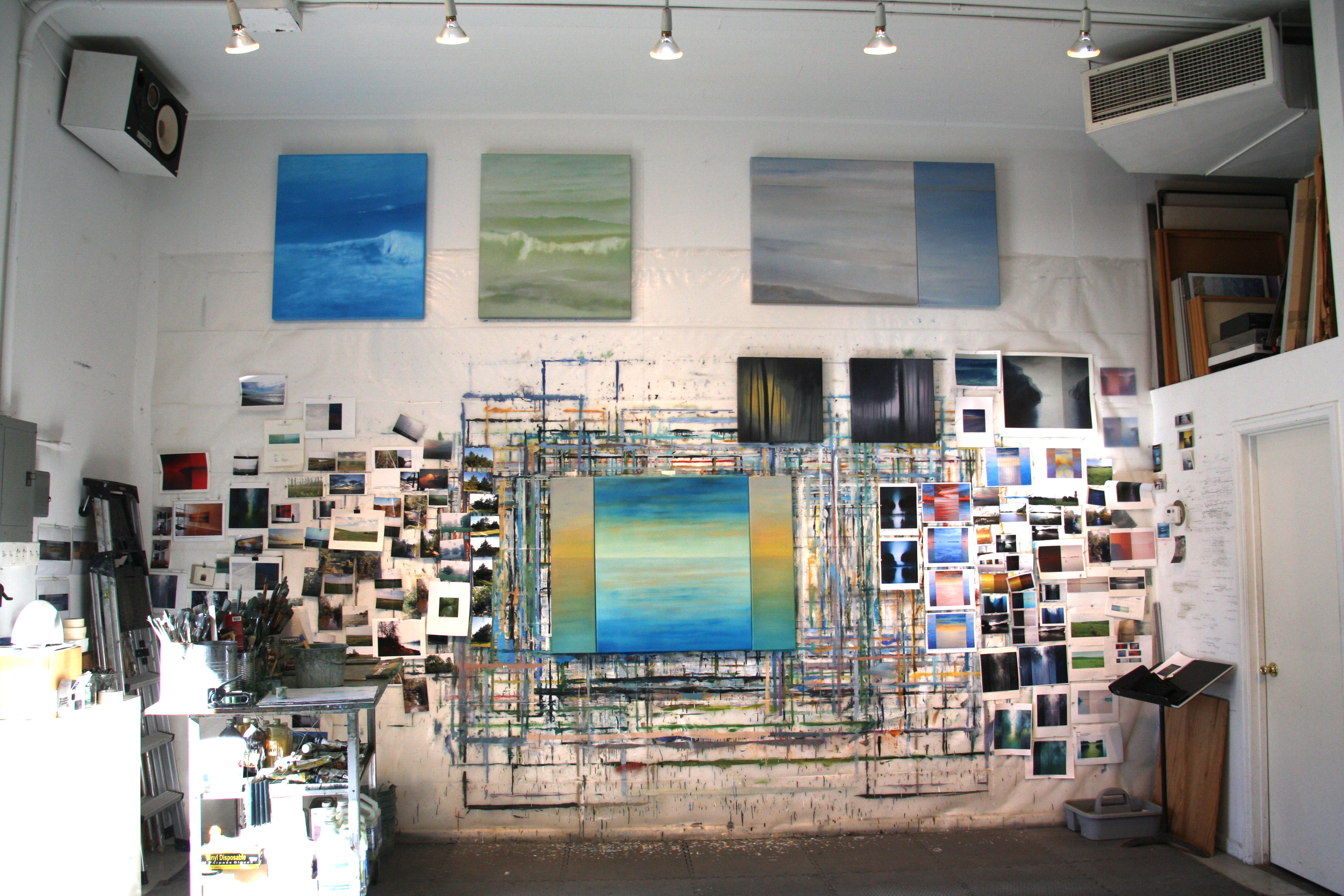 At the studio: Seascapes