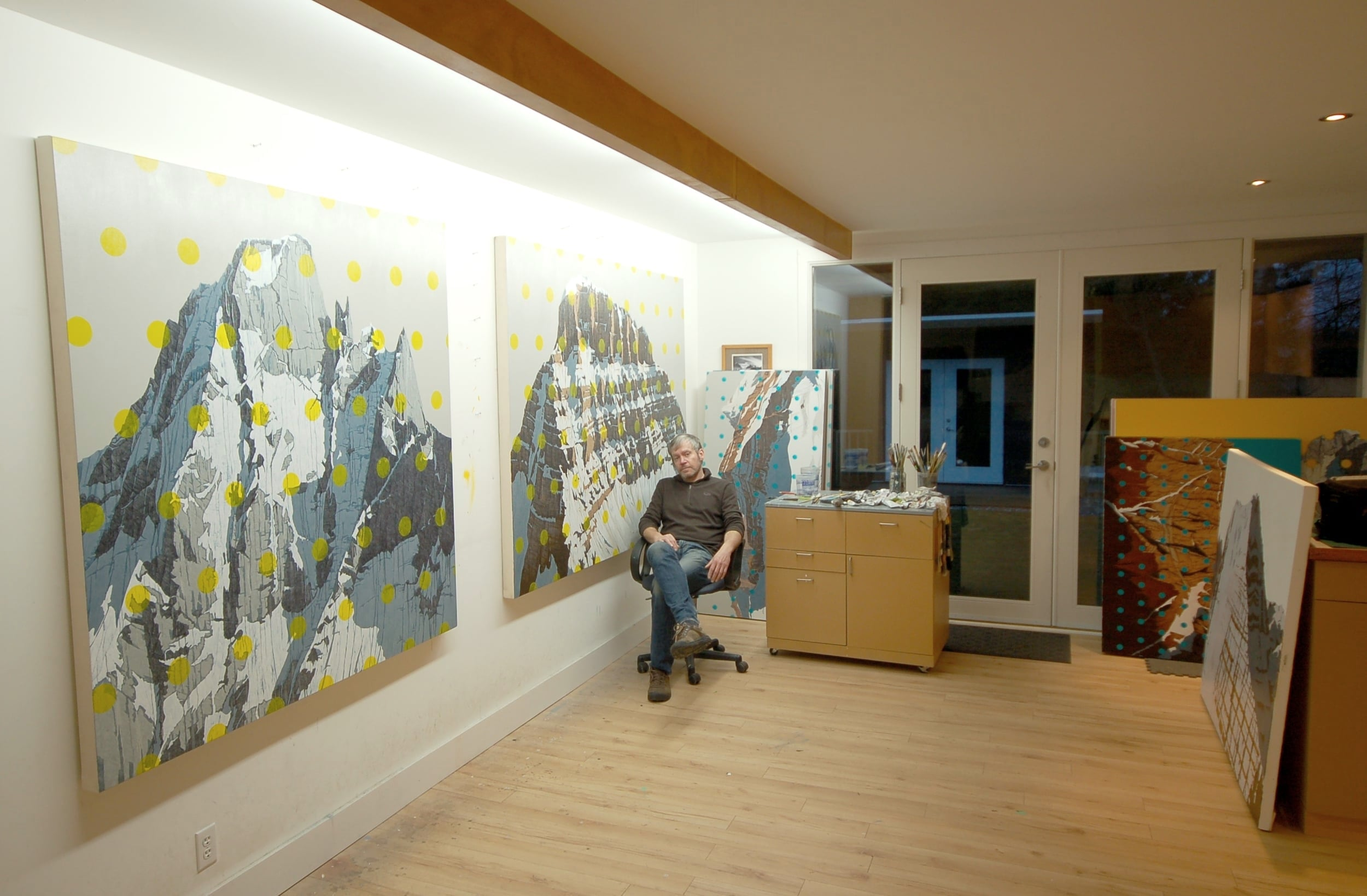 CoCo Artist David P. at his studio in Vancouver, Canada.