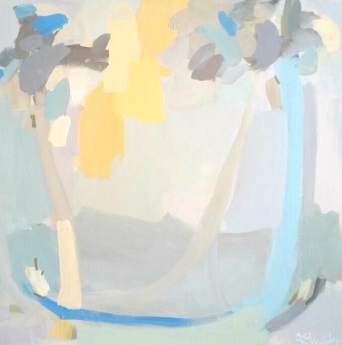 """Sonya E., Hammock Under the Trees;  36""""x22"""",acrylic"""