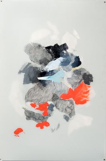 "Shep, Eli S.;  26""x32"", oil-based print with arcylic on mylar"