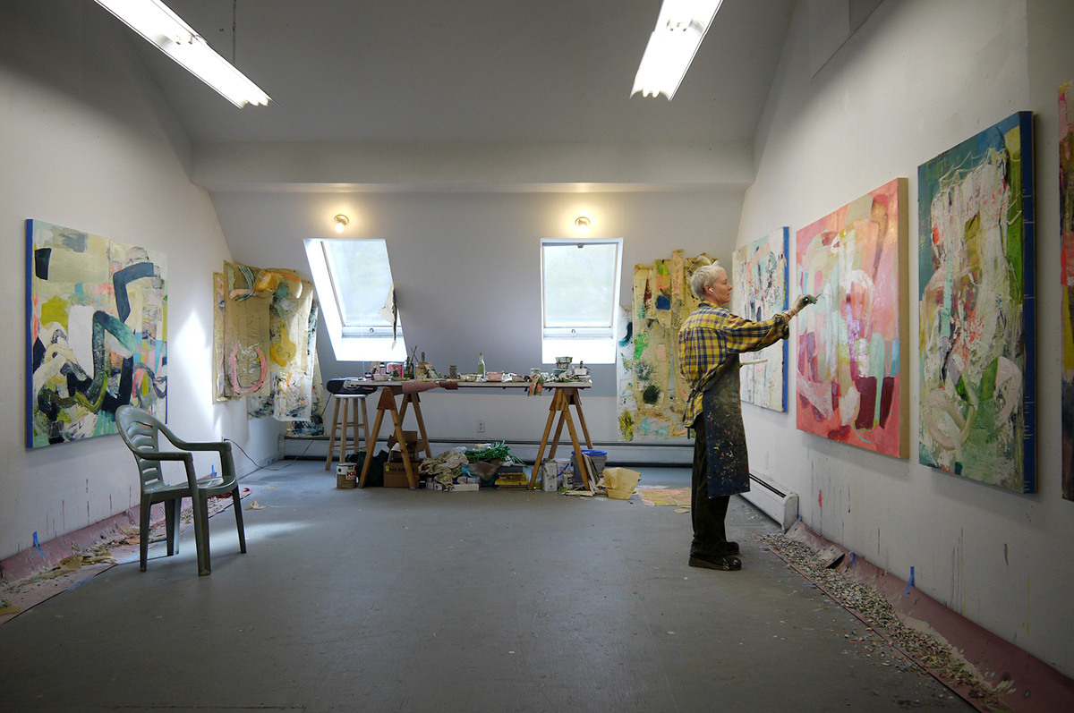 Galen in her studio.