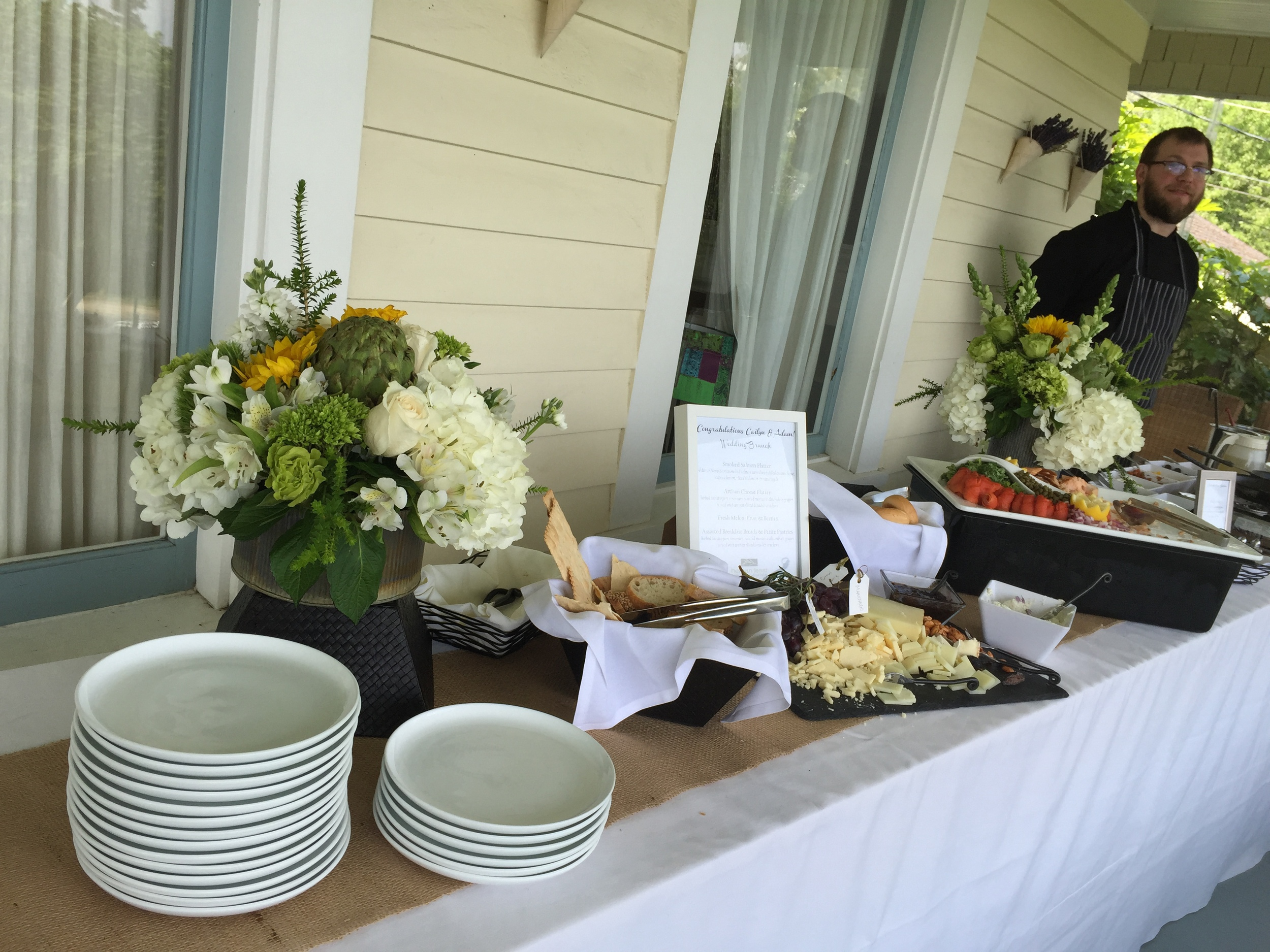 Buffet on the porch