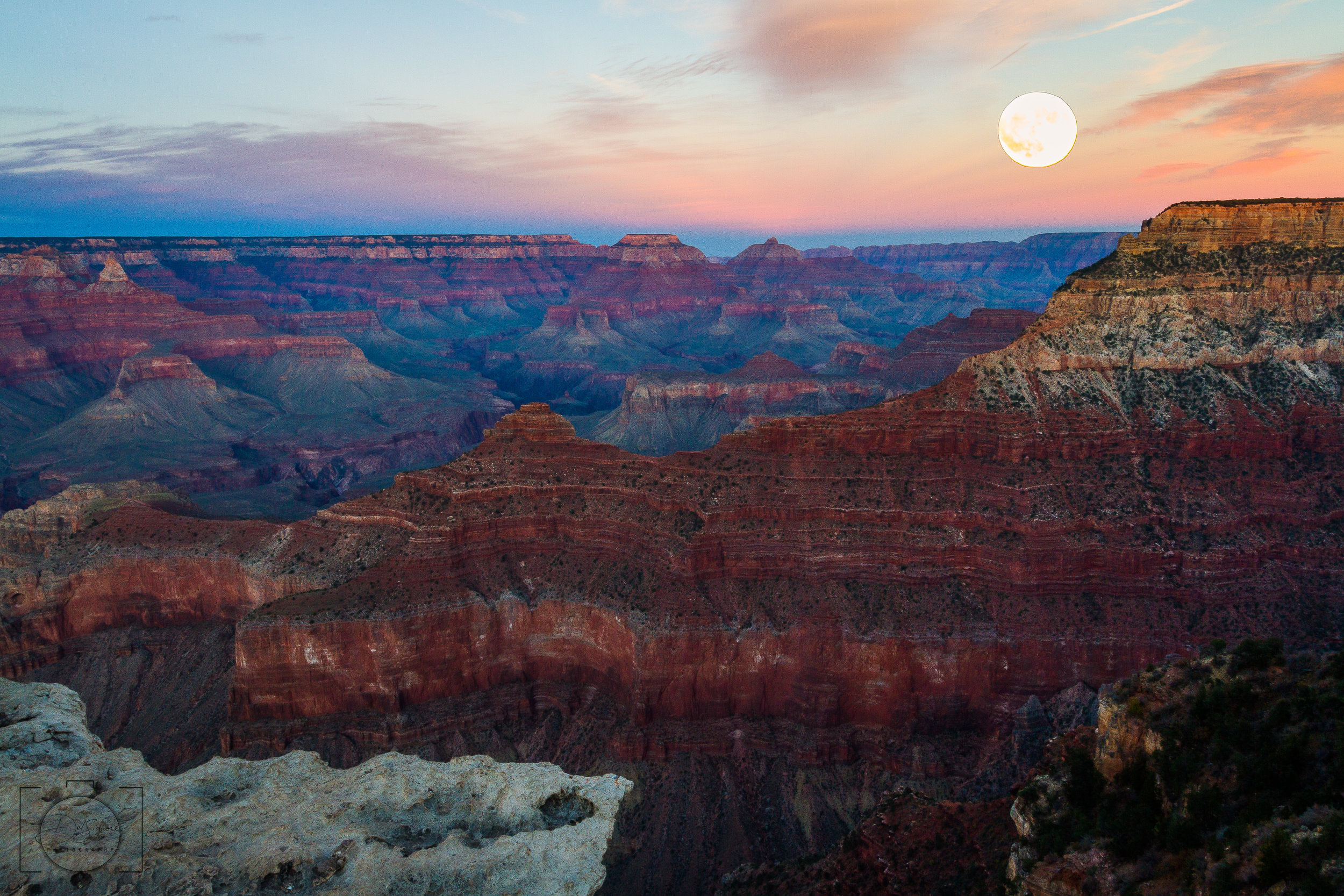 Grand Moon - South Rim, Grand Canyon