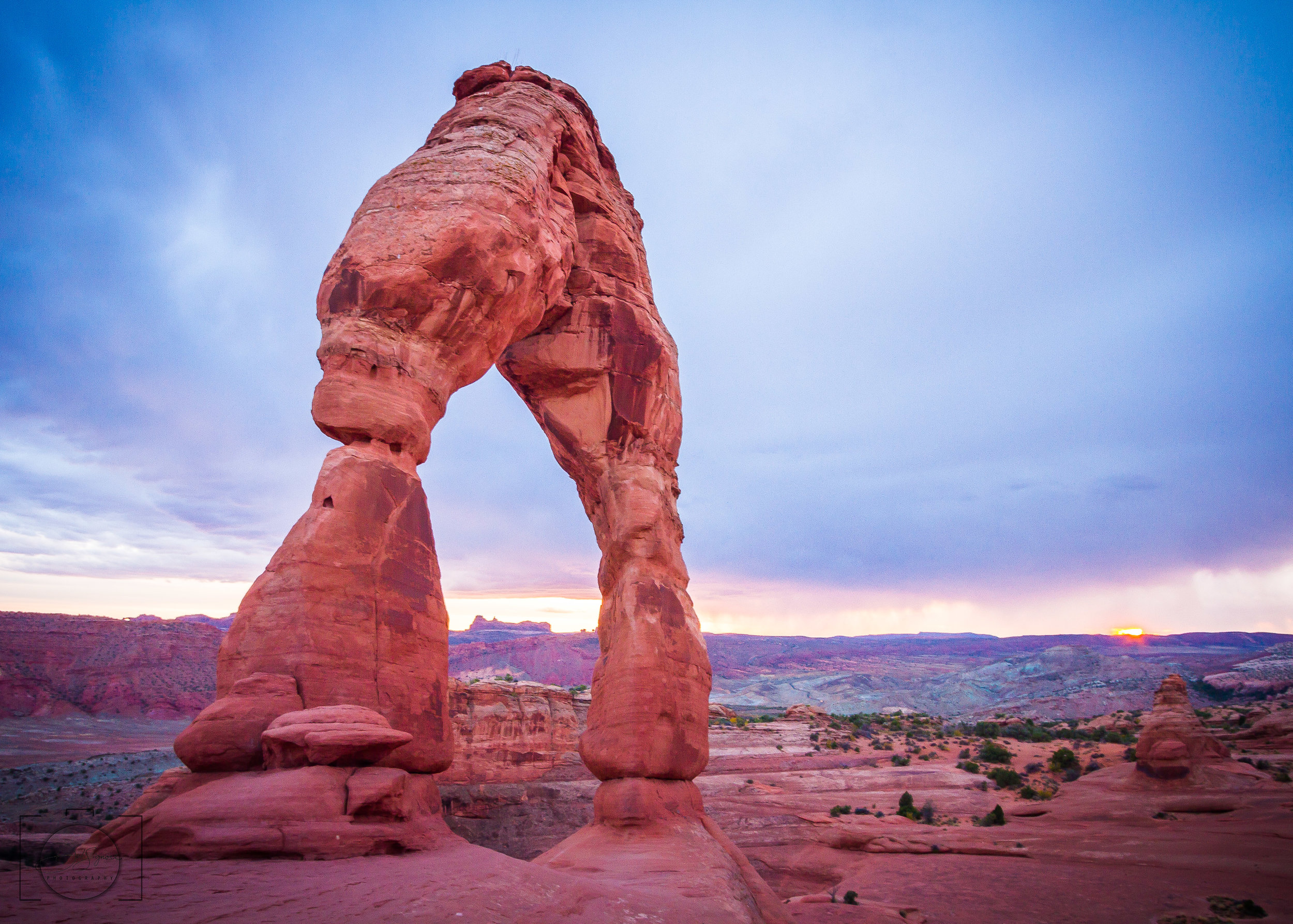 """The coming storm"" - Delicate Arch, Arches National Park"