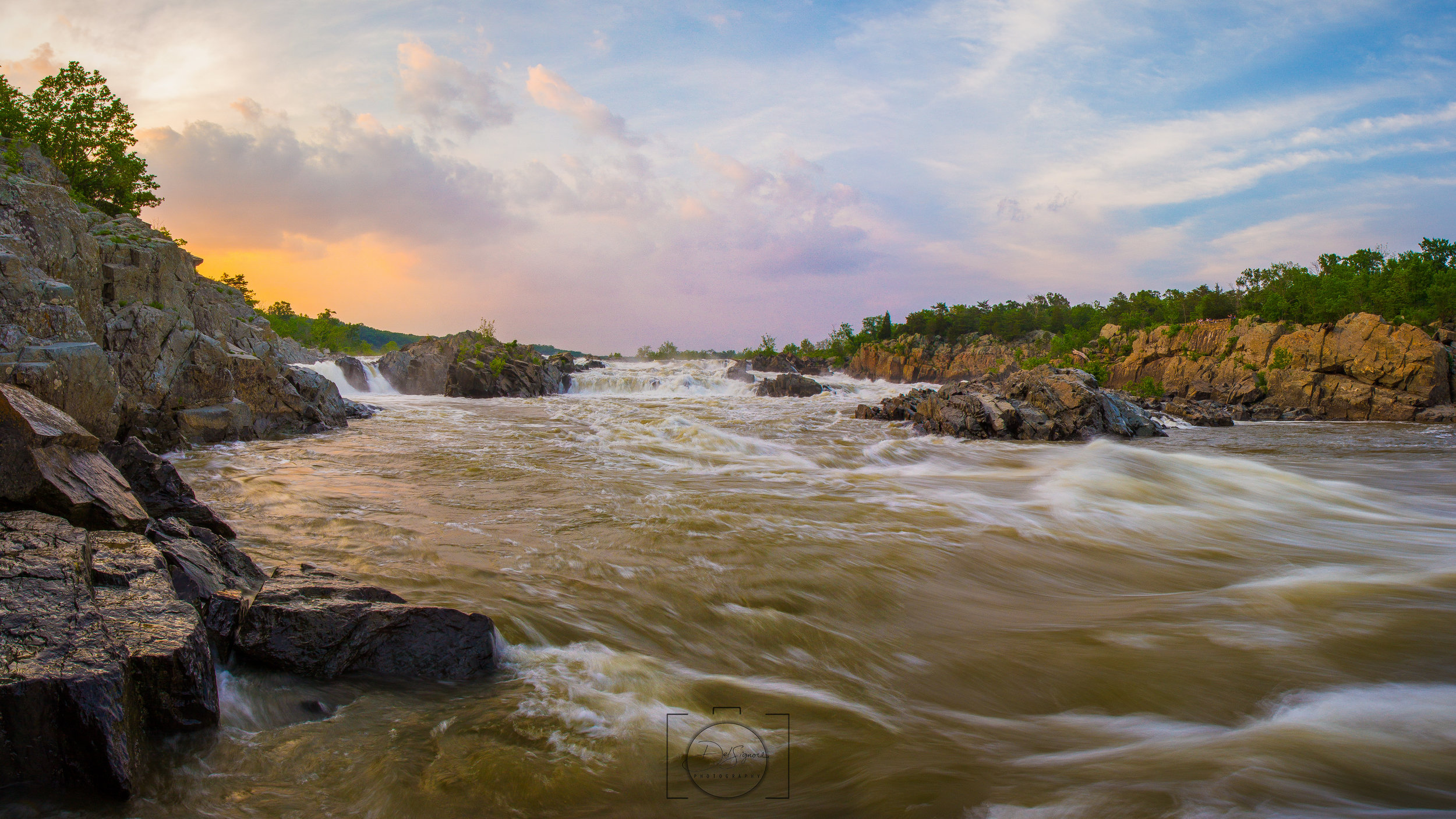 """Sundown at Great Falls"" - Great Falls State Park, Virginia"