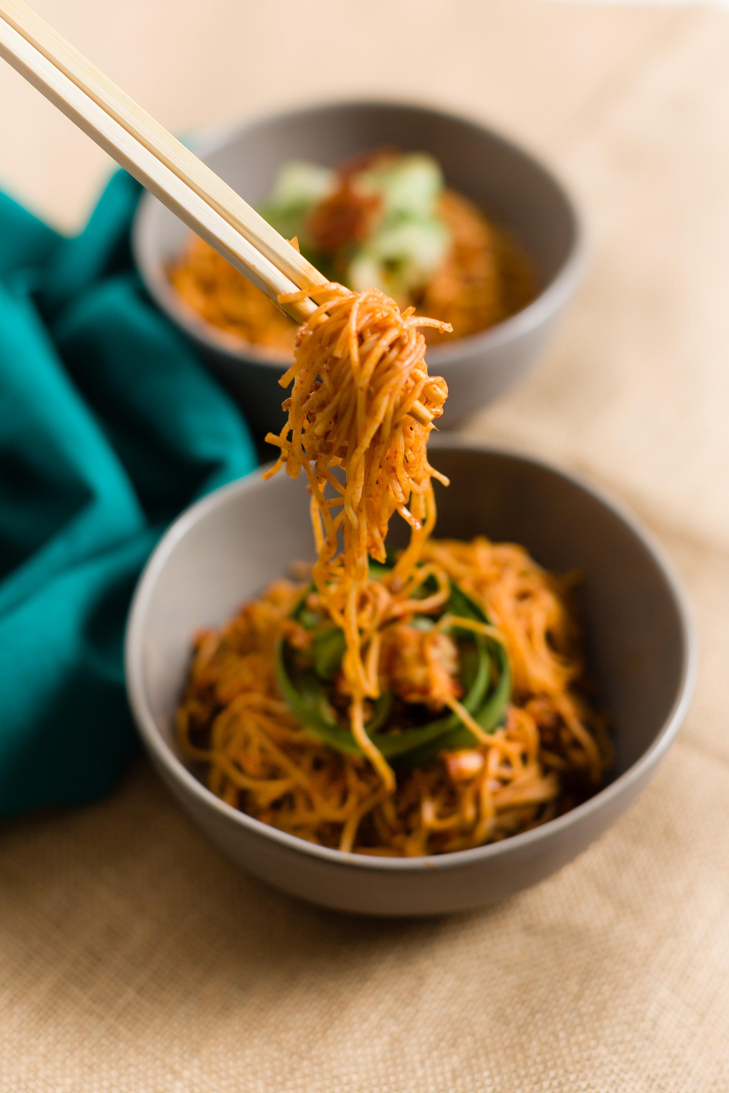 Korean-Style Somen Bolognese