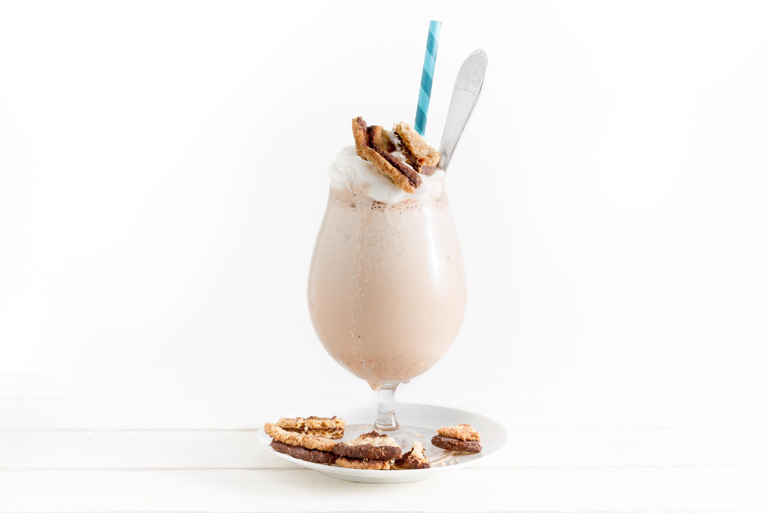 Chocolate Oatmeal Cookie Milkshake