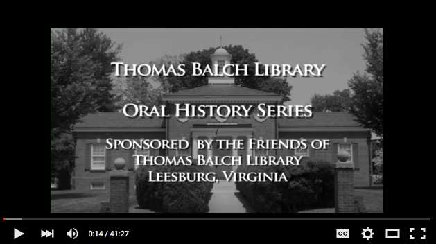 """Friends of Thomas Balch Library is sponsoring new """"oral histories"""" recorded on video by member Sarah Huntington and her colleagues at The Lincoln Studios.  Click on image for Teckla Cox video interview."""