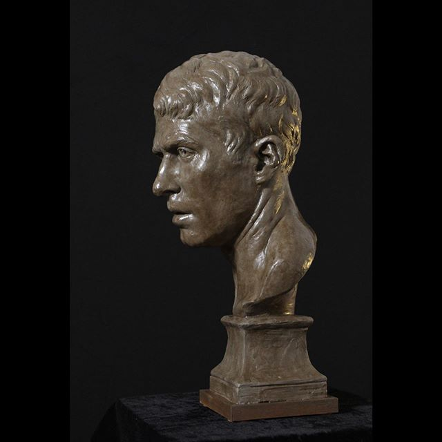 Side view of my self portrait. It will be on view in London June 3-8 in the @societyofportraitsculptors FACE exhibition. . . . #sculptor #sculpteur #bust #busto #buste #portraitbuste #portraitbust #portraitstudy #portrait #clay #sculpt #sculpture #sculture #fineart #classicalart #classicalrealism #contemporarysculpture #figuresculpture #figurativeart #academicart  #figurative #sculpting #sculptureoftheday #london #fromlife #sculpturestudio #selfportrait #portraitsculpture #societyofportraitsculptors
