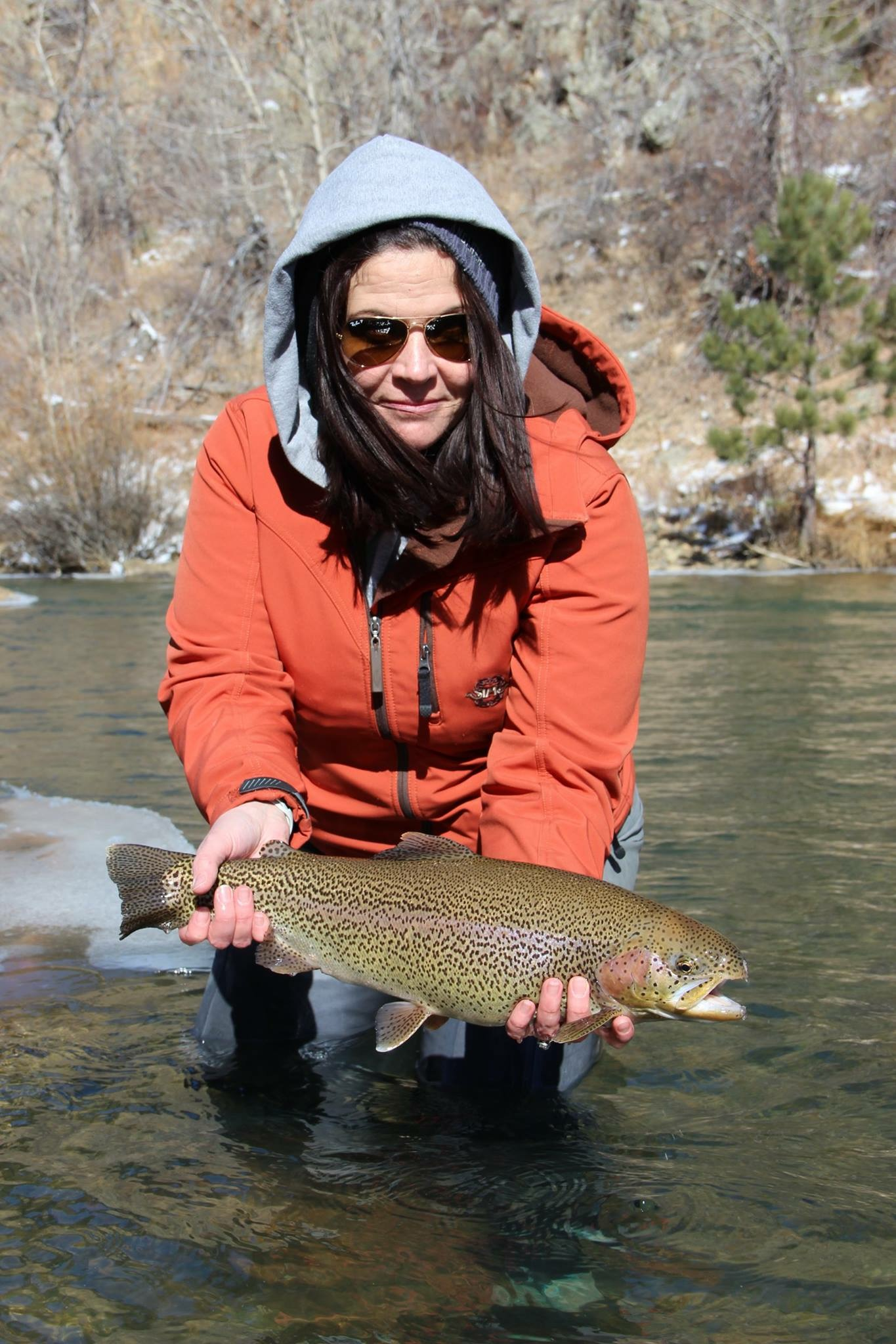 Kelli Jackson - Founder & Owner AnglherAs a native of Colorado Kelli grew up an outdoor girl. Being the youngest and only girl of five kids, she enjoyed playing in the dirt and running around with the boys. Kelli began fly fishing in Gunnison, Colorado while pursing her degree at Western State Colorado University. Post college she returned to her hometown Eagle, CO and worked in a fly shop and bartended.Noticing a lack of women's fly fishing apparel and classes geared towards women interested in the sport, Kelli created Anglher. A brand for women by women. Kelli also began hosting all inclusive women only destination trips (2008) and launched her kids line, Lil Buggers (after having twins in 2015).When this anglher isn't out on the water she enjoys running, mountain biking, snowshoeing and traveling with her husband and twin boys.Her next bucket list fishing experiences are Christmas Island April 2019 and Iceland 2019.Non profits she currently works with are: The Leukemia & Lymphoma Society, Casting for Recovery and The Mayfly Project.