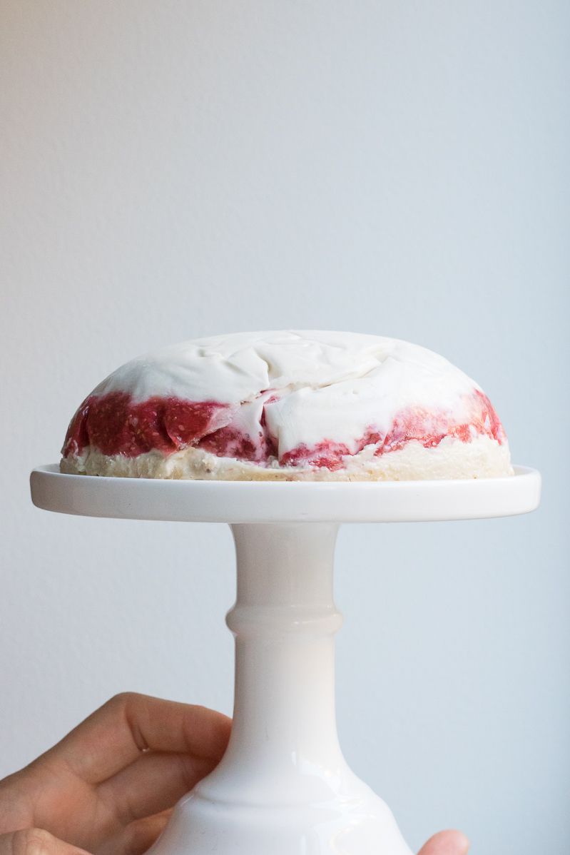 Raw vegan Swedish princess cake