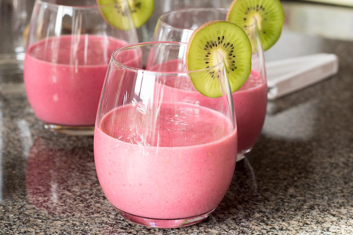 Pink smoothie morning