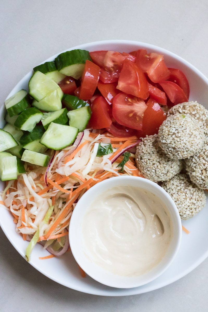 raw food falafel salad