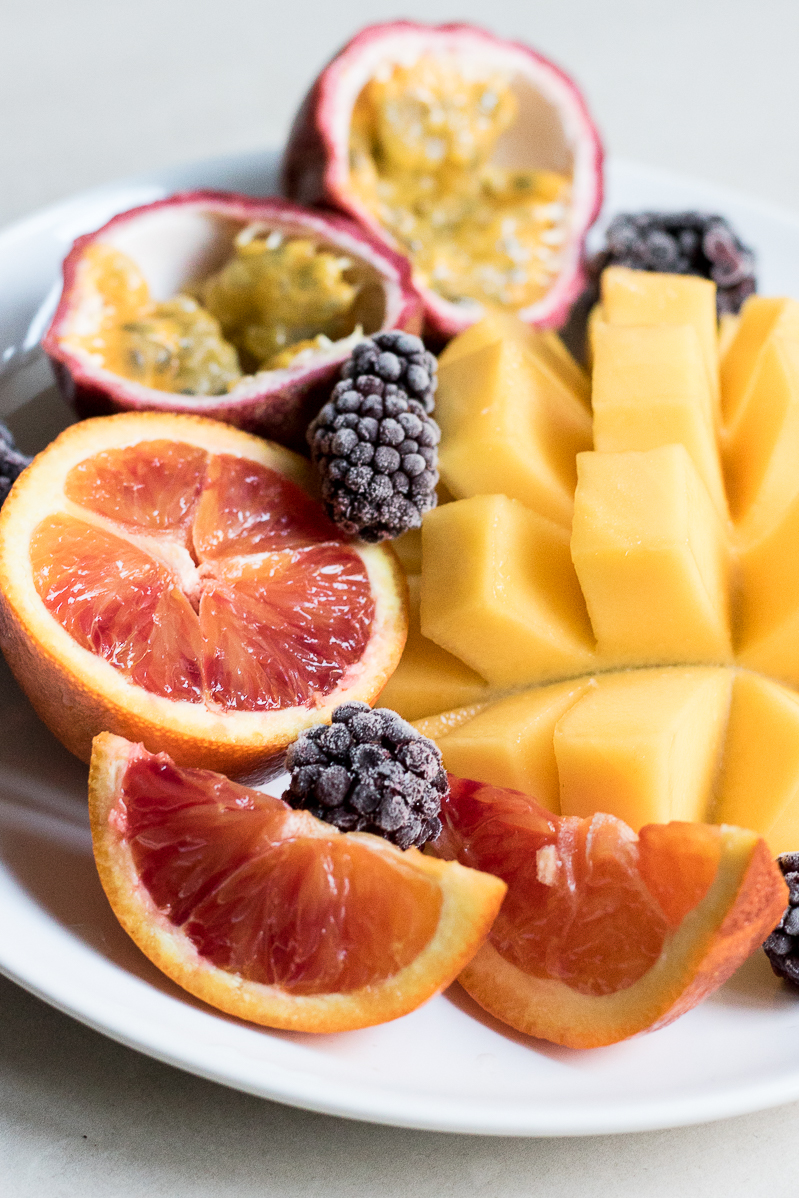 raw fruit plate