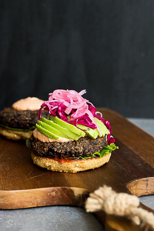 Vegan plant based gluten free burger