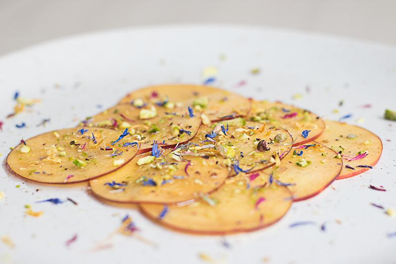 Food Photography Nectarine carpaccio
