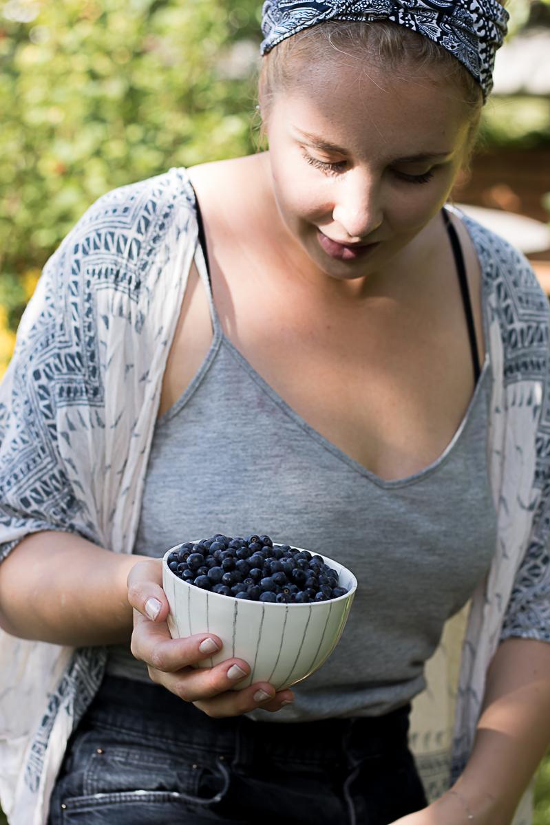 Raw blåbärstårta
