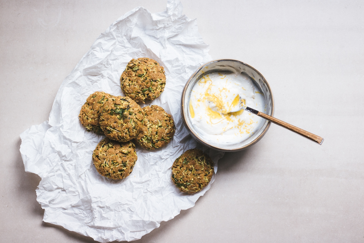 Zucchini fritters recipe vegan