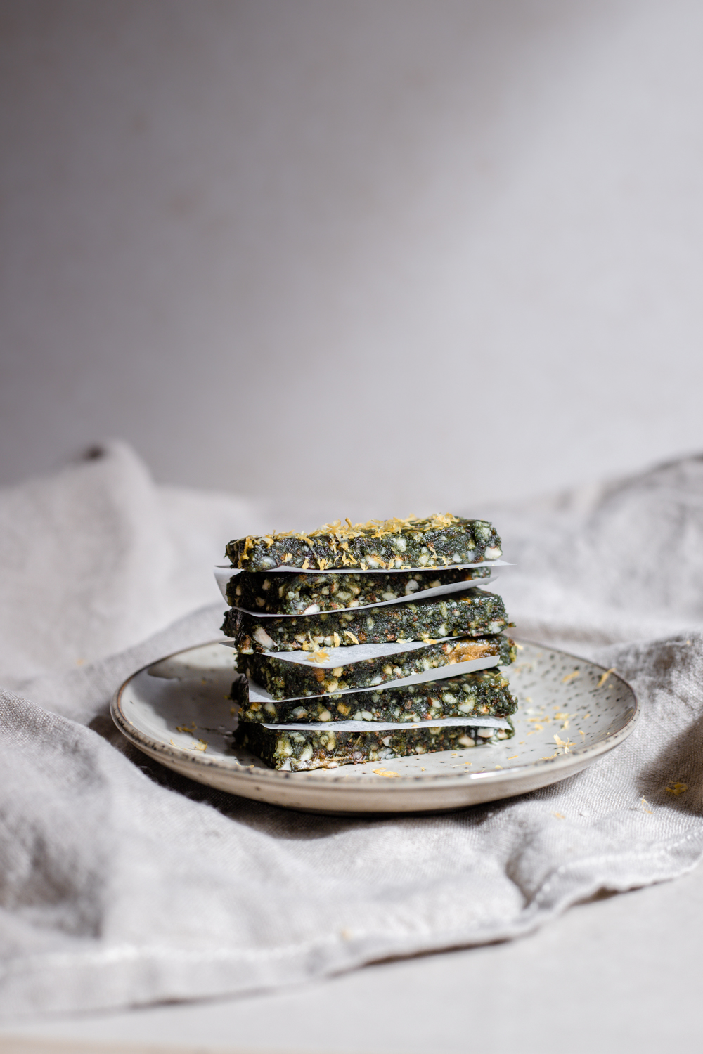 Citron & spirulina bars