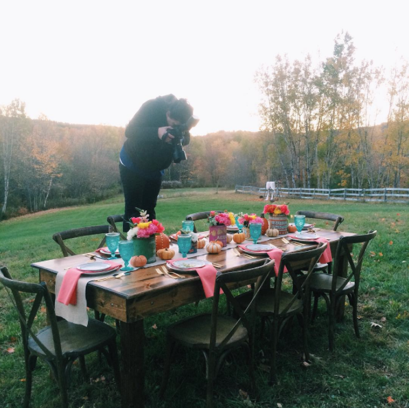 Behind the scenes of our first styled photo shoot on the farm.
