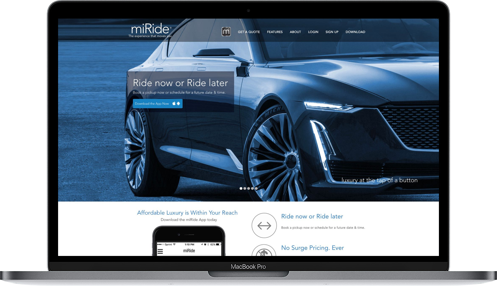 miRide Ecosystem: Proprietary Native Apps, Dashboard + Booking Platform - UX STRATEGY + UX DESIGN