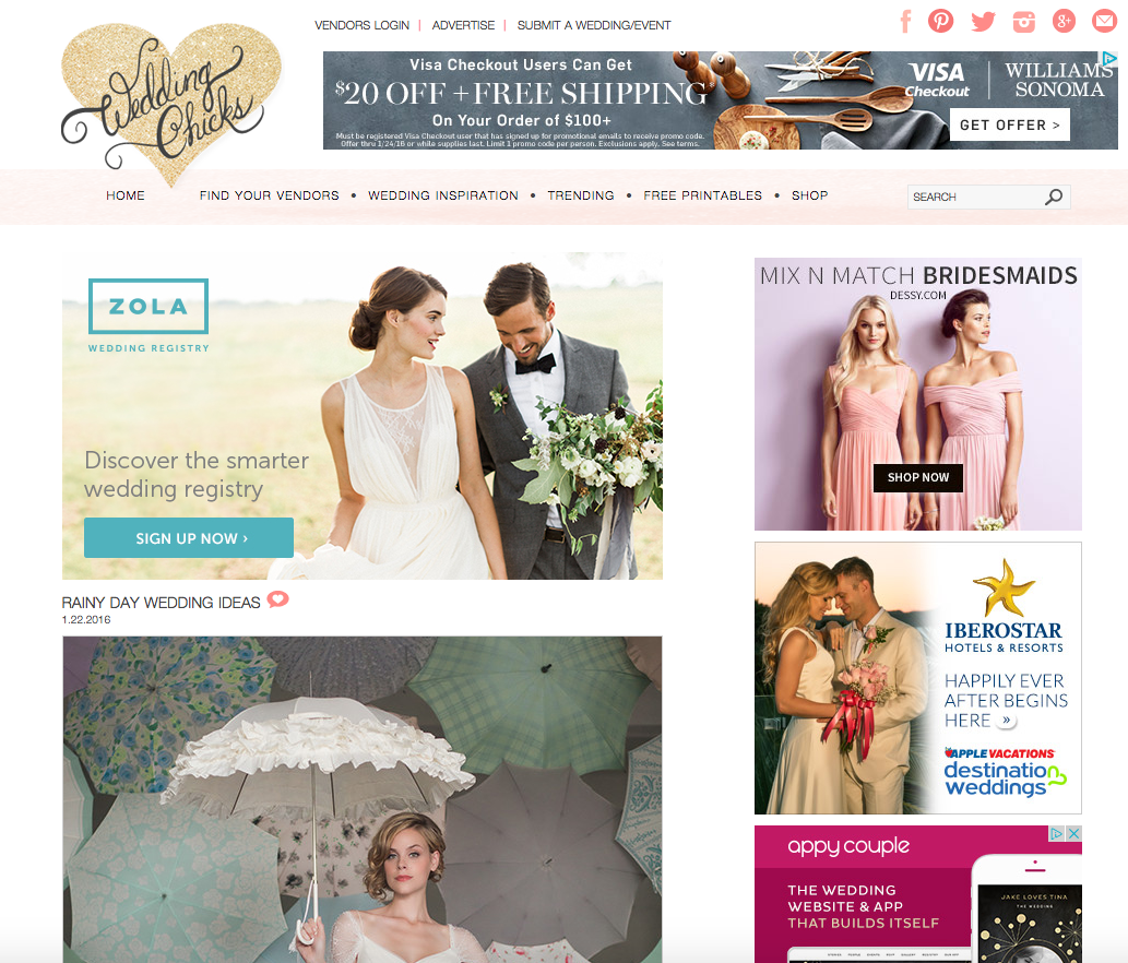 Bella Umbrella Featured on Wedding Chicks