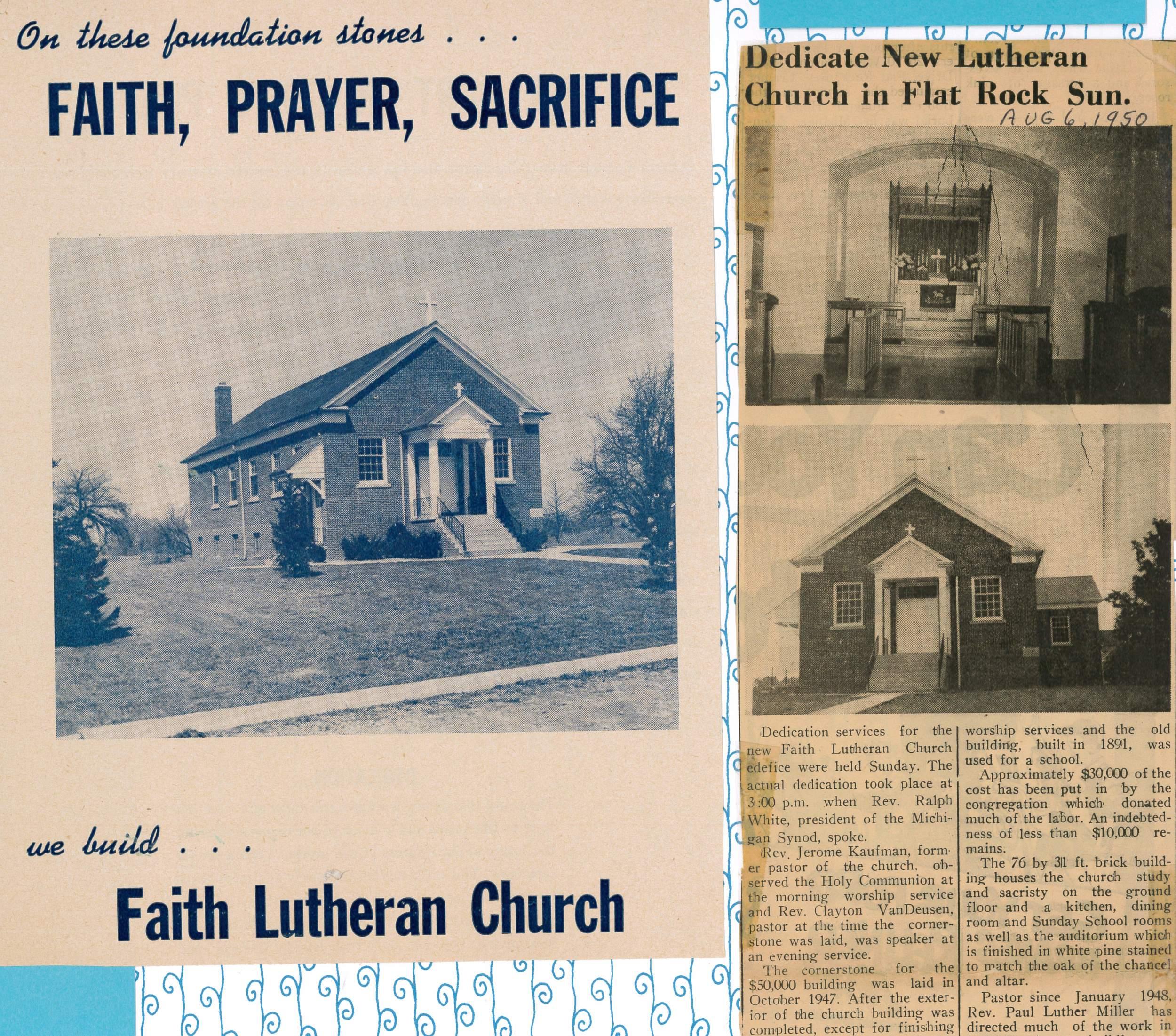 1950 Church building dedication