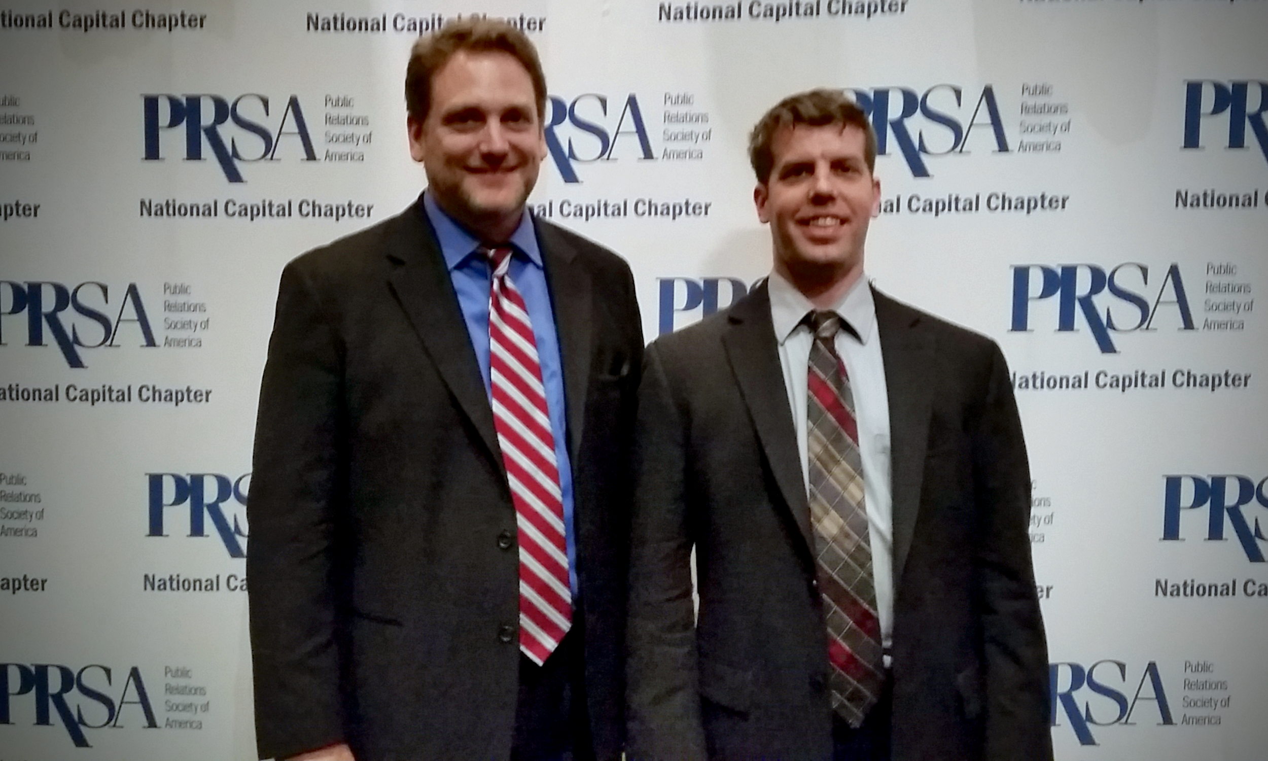 Dale Curtis and Peter Morscheck at the 2015 Thoth Awards, presented by the PRSA National Capital Chapter