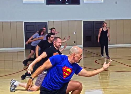 Arianne MacBean facilitates movement workshop for Veterans at Bob Hope Patriotic Hall