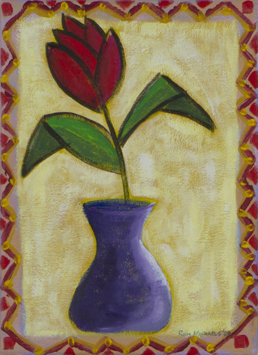 Flower in Purple Vase