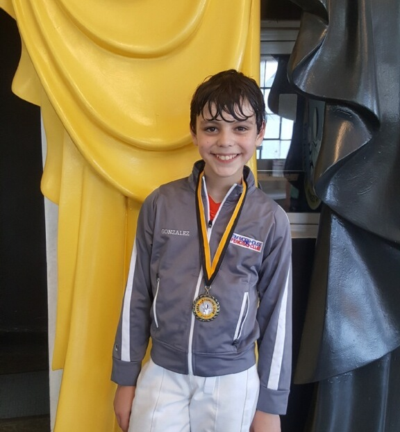 Pictured: Emilio Gonzalez won a Gold Medal in Y-10 Men's Saber