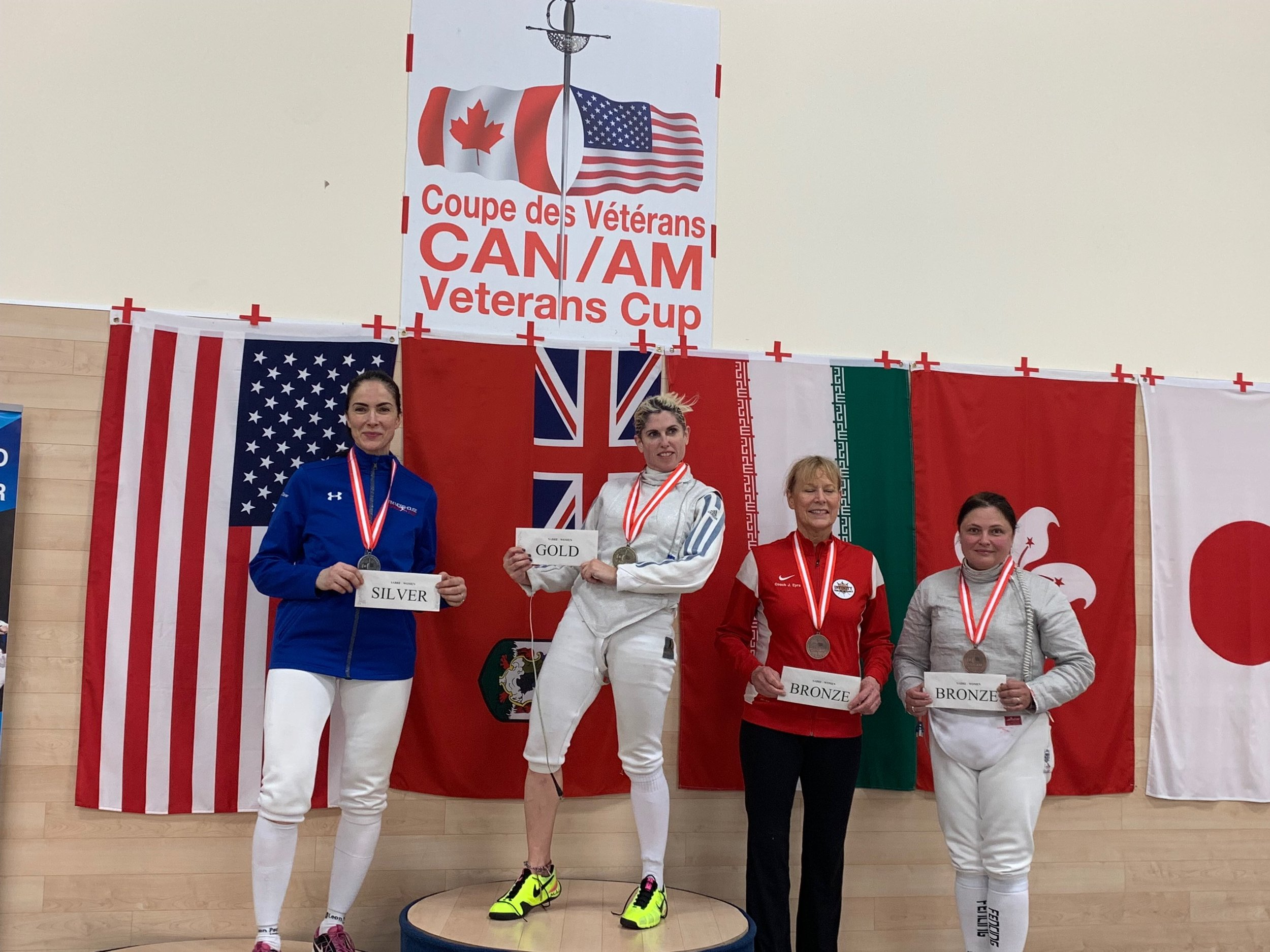 Pictured: Jasmina Denner wins one of her two Silver Medals at the Can/Am Veteran's Cup 2019