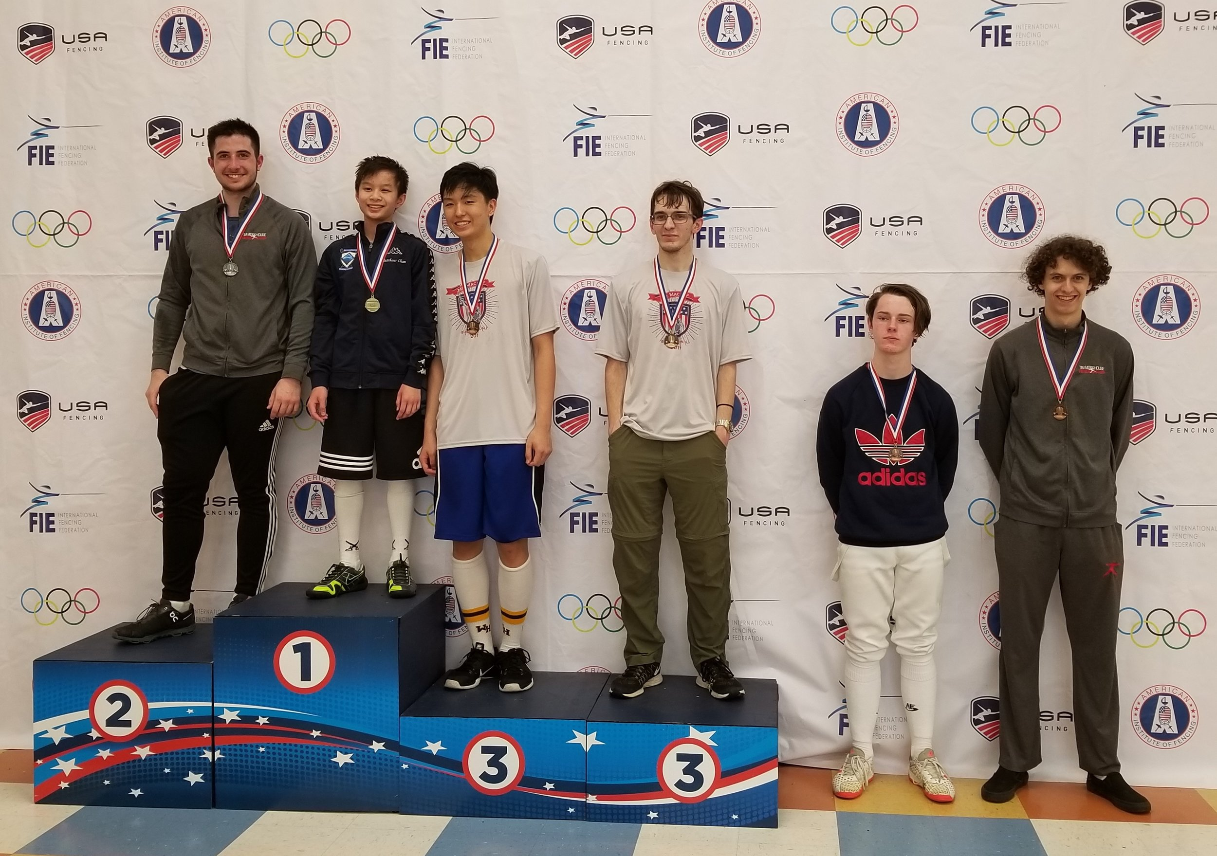 Braden Vaccari wins a Silver Medal and Scott Wyche wins a Top-8 Medal in Junior Men's Saber