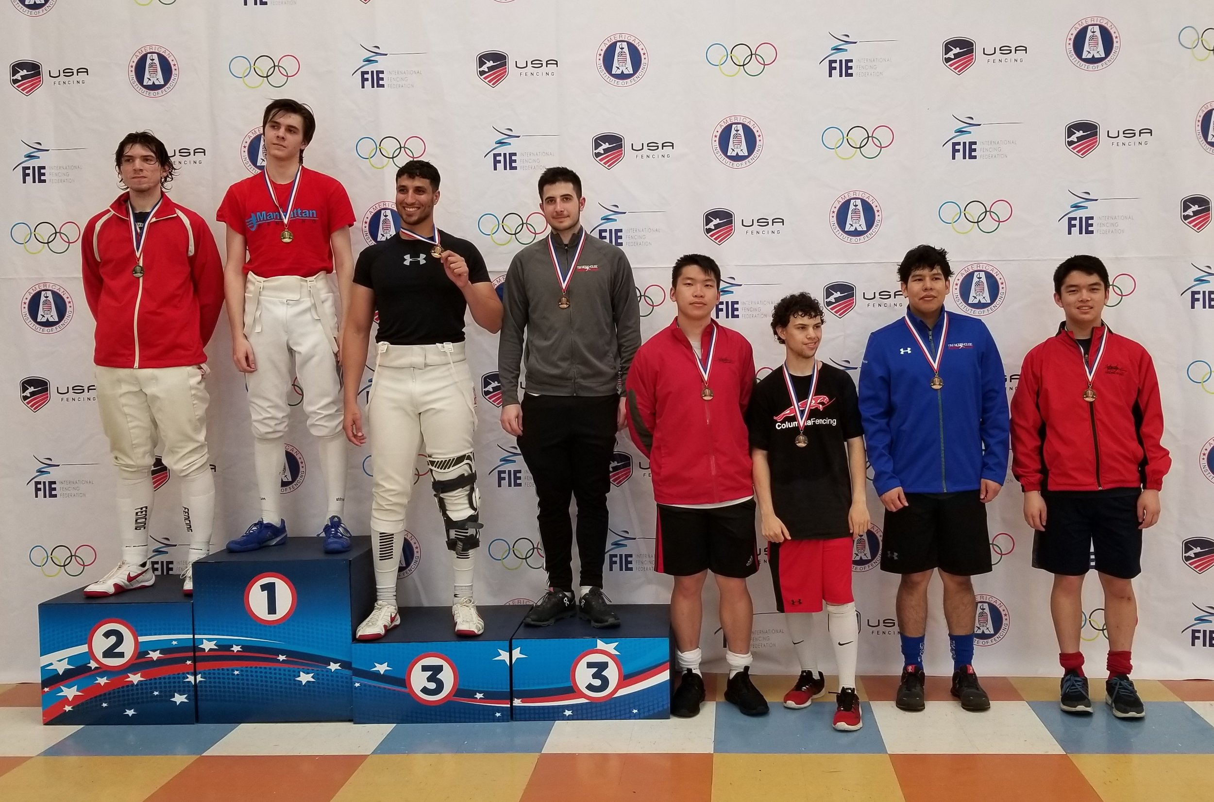 Braden Vaccari wins a Bronze Medal and James Huayta wins a Top-8 Medal in Senior Men's Saber