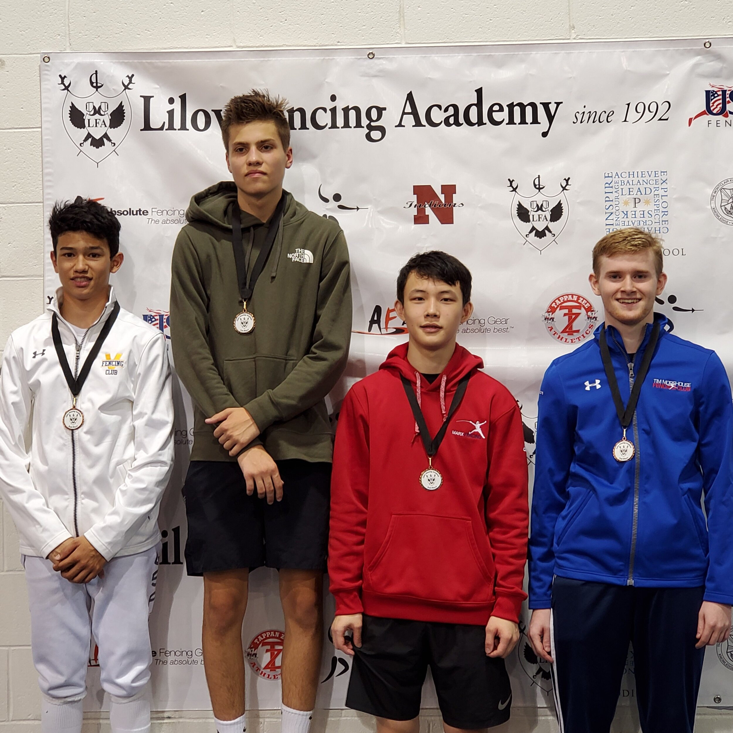 Pictured: Jake McGillion-Moore finished 3rd in DIV1A Men's Foil, earning his A19
