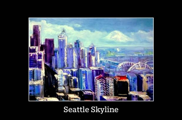 Seattle Skyline Poster- Copyright 2015