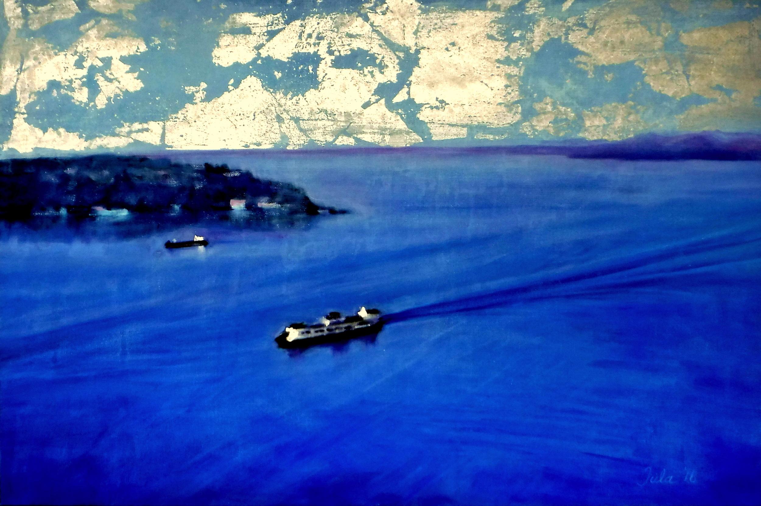 The Ferry to Bainbridge- Copyright 2016