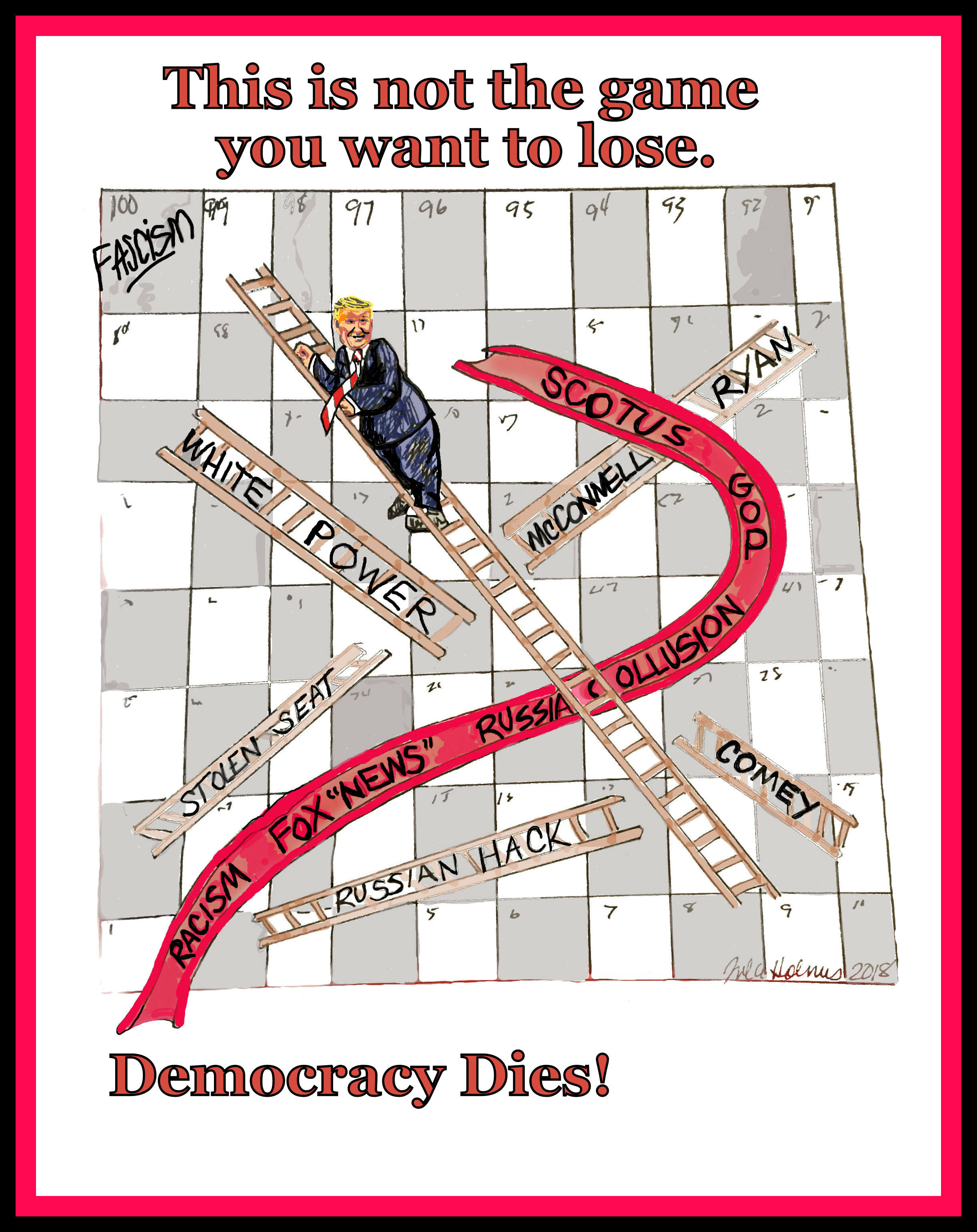 Democracy is not a Game- Copyright 2018