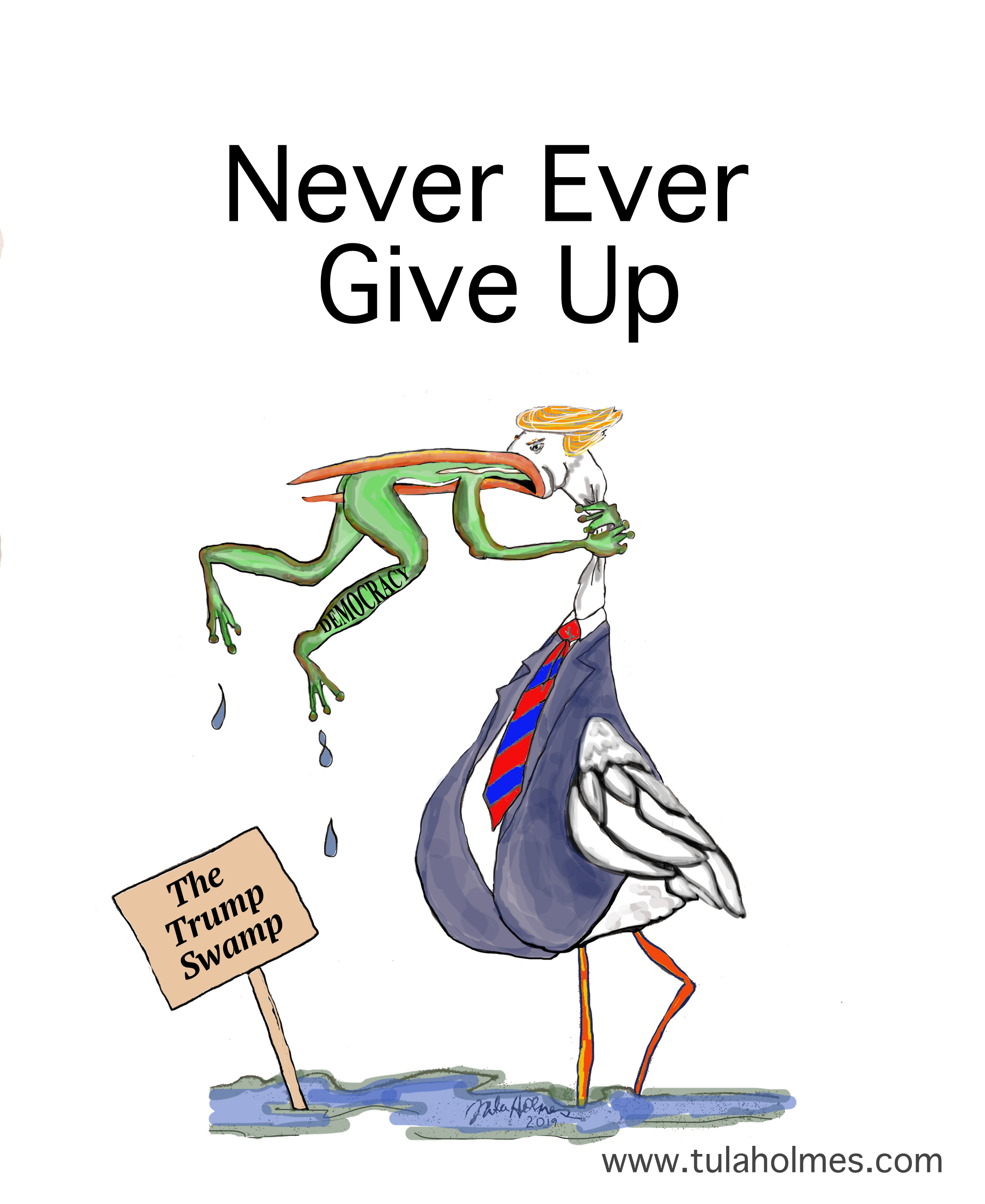Never Ever Give Up on Democracy- Copyright 2019